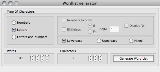 Wordlist Generator