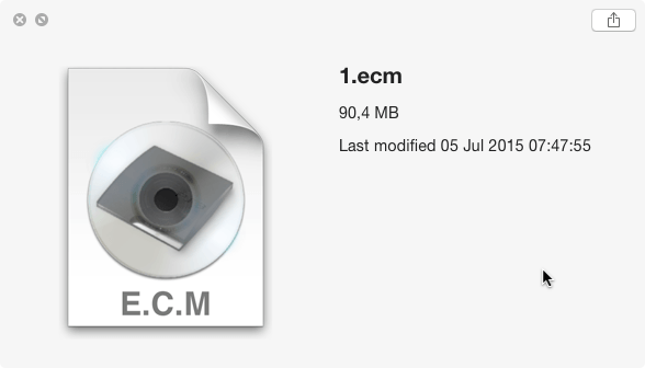 ECM File size reduction